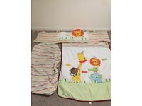 NEXT Cotbed/cot bedding and curtains bundle