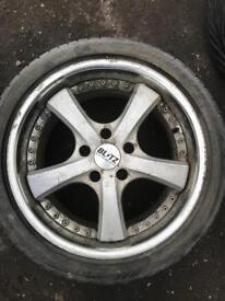 Alloy + tyre