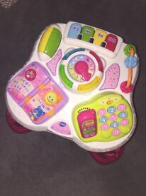 Pink v tech baby activity table