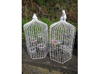 DECORATIVE BIRD CAGE TEA LIGHT CANDLE HOLDERS