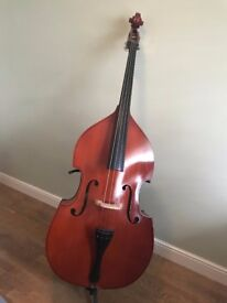 Double Bass (1/2 Size) Great for beginners, shorter players or as a side project!