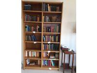Smart tall wooden bookshelves