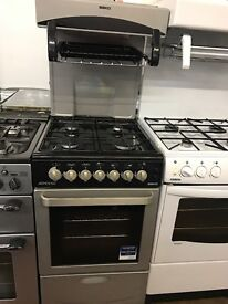 50CM SILVER EYE LEVEL GAS COOKER