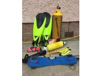 Diving Equipment for sale: cylinders, weight belts etc