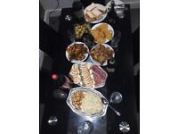 Glass dinner table
