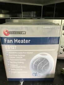 Brand new in box fan heater