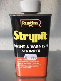 Rustins Strypit unused paint and varnish stripper