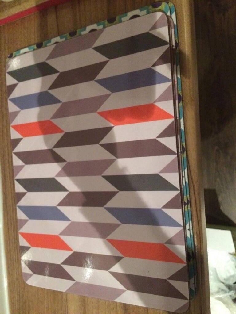 4 x Denby place mats & another geometric set of 4