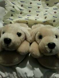 Collectable Andrex puppy and slippers