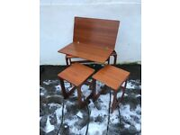Teak retro Macintosh nest of tables