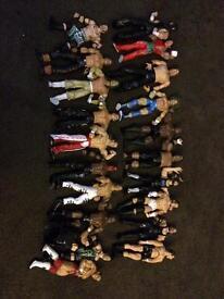 WWE wrestling figures x18 / wrestler toys