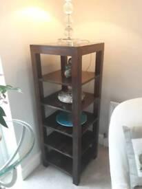 Mahogany freestanding shelf/display unit