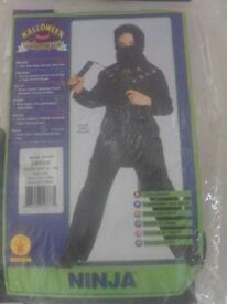 Rubie's Black Ninja Fancy Dress (Large) - age 8 - 10 Book week ?