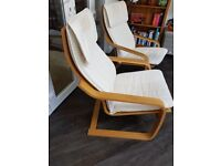 Pair of Ikea Poang Armchairs
