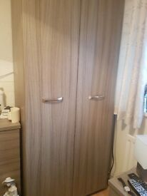Bedroom Furniture, wardrobe, 3 draws and a bedside cabinet excellent condition