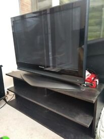 """42"""" Panasonic TV with black stand, good condition only £100!"""