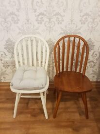 6 Farmhouse dining chairs