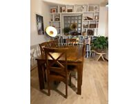 8 Person Dining Table and Chairs - Indian Rosewood
