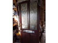 Exterior mahogany hardwood front door and frame