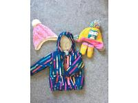 Next Pencil design coat 6-9 months and hat and gloves 3-9m