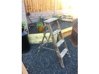 Vintage Wooden Step Ladders Shabby Chic Project Or Wedding Venue Decoration