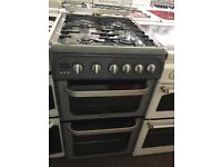50CM SILVER HOTPOINT GAS COOKER (GRAPHITE)