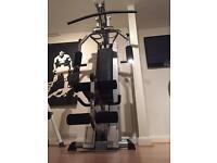 Three pieces of gym equipment