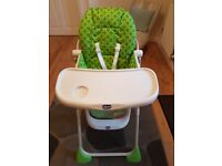 Chicco High Chair excellent condition hardly used.