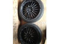 17inch mutli fit alloys good tyres