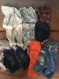 Bundle baby boys clothes from 3-9 months
