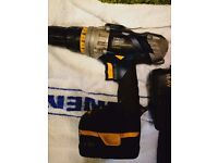 mac,alister 14.4 volt cordless hammer drill and charger