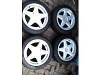 Azev A Alloy Wheels x4... 4x100... VW Golf, Lupo, Polo. SEAT Arosa, Ibiza. BMW E30, 2002.