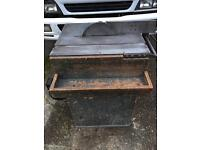 """Saw bench vintage """" but in lovely condition adjustable table"""