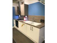 Ex-display White and Stone Kitchen