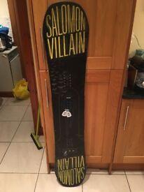 Mens Salomon Villain Snowboard 155cm,