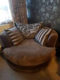 *URGENT* MASSIVE SAVING Chalice Cuddler Sofa in Mocha from DFS - Like New