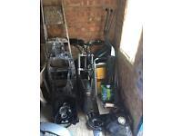 Yamaha tmax 500xp BRAKING!! Exhaust, forks, wheels, clocks