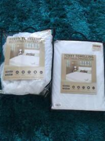 2 brand new mattress protectors