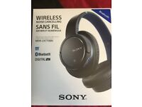 Sony MDR-ZX770BN Wireless and Noise Cancelling Headphones - Blue