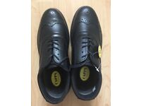 Brand New Capps Antistatic Mens Black Brogue Size 8