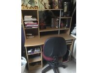 Computer desk with storage and chair