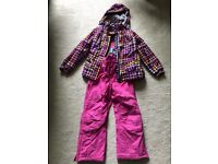 Girls skiing jacket and trousers age 7-8