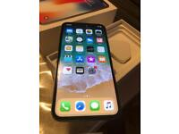 Iphone x silver 64gb mint condition