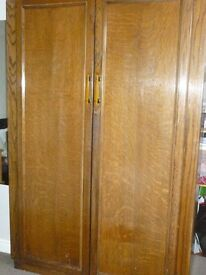 Old Medium Oak Wardrobe