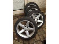 "Alloy wheels (ac schnitzer) 17"" BMW"