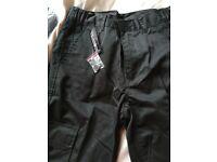 Ladies black work trousers brand new