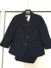 Toddler boys navy Marylebone suit