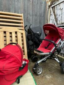 ALL 3 FOR ONLY £100 Strollers & Crib