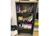 Office Filing Cabinet with lockable roller shutter doors, Dimensions: 167 x 80 x 47 cms