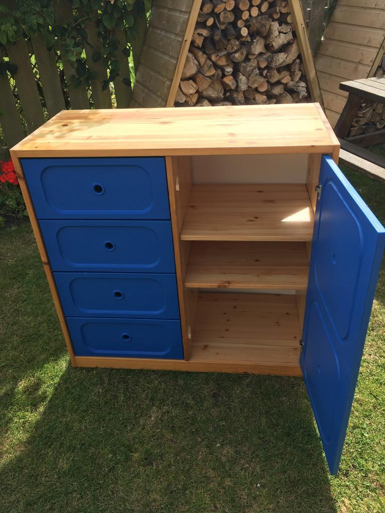 Ikea Trofast Storage Unit In Pine With Drawers And Shelf